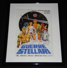 1977 Italian Star Wars 8x10 Framed Photo Poster Display Official Repro