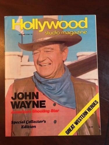 "1977, John Wayne, ""Hollywood Studio"" Magazine (No Label) Scarce, ""The Duke"