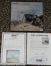 1977 Rush A Farewell To Kings signed autographed LP record vinyl by 3 PSA DNA