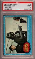 1977 Star Wars #10 Princess Leia Captured! Carrie Fisher Psa 9 N2295060-728