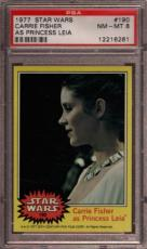 1977 Star Wars #190 Carrie Fisher Psa 8 N2422205-261