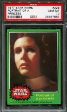 1977 Star Wars #226 Portrait Of Princess Carrie Fisher Pop 4 Psa 10 N2381683-869