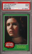 1977 Star Wars #226 Portrait Of Princess Carrie Fisher Psa 9 N2455288-421
