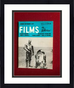 """1977, Star Wars, """"FILMS in Review"""" Magazine (Scarce / Vintage)"""