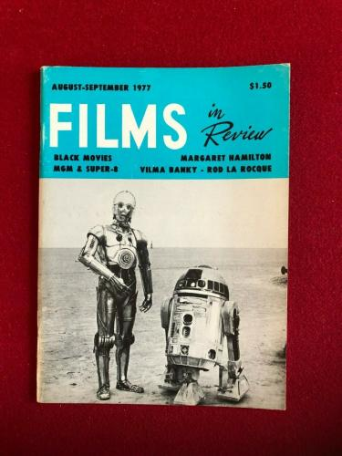 """1977, Star Wars, """"FILMS in Review"""" Magazine (Scarce)"""