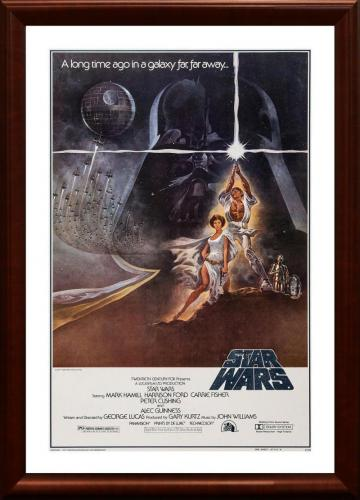 1977 Star Wars Original Movie Poster - Framed
