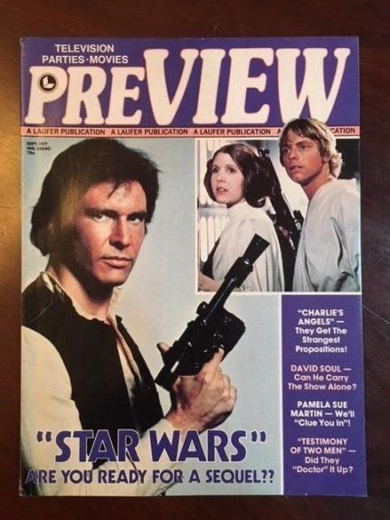 "1977, Star Wars, ""PreView"" Magazine, (No Label)"