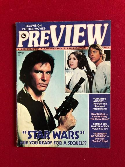 "1977 Star Wars,  ""PREVIEW""  Magazine (No Label) Scarce"