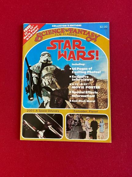 "1977, Star Wars, ""SCIENCE FANTASY"" Magazine (Scarce / Vintage)"