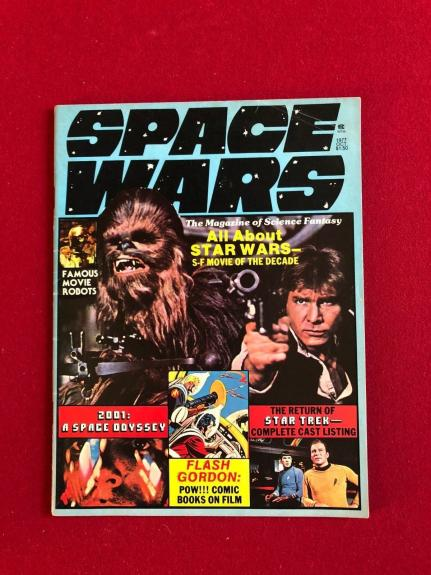 """1977, Star Wars, """"SPACE WARS"""" Magazine (Star Trek)) Scarce (No Label)"""