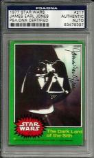 1977 Topps James Earl Jones STAR WARS Signed Trading Card #217 PSA/DNA