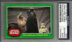 1977 Topps James Earl Jones STAR WARS Signed Trading Card #237 PSA/DNA