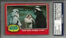 1977 Topps James Earl Jones STAR WARS Signed Trading Card #75 PSA/DNA