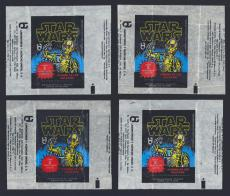 1977 Topps Mexican Star Wars Wrappers - 12 total including 4 of each type - RARE