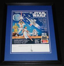1977 Topps Star Wars Cards Framed Advertisement Photo Official Reproduction