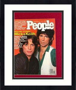 """1977,Mick Jagger / Keith Richards (Rolling Stones), """"People"""" Magazine(No Label)"""