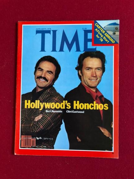 "1978, Burt Reynolds / Clint Eastwood, ""TIME"" Magazine (No Label) Scarce"