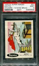 1978 Dc Super Heroes Stickers Taystee Bread #21 Krypto Pop 3 Psa 9 N2578009-608