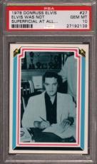 1978 Donruss Elvis #27 Elvis Was Not Pop 3 Psa 10 N2449642-139