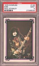 1978 Donruss Kiss #126 Paul Stanley Pop 6 Psa 9 N2436346-536