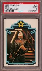 1978 Donruss Kiss #73 Paul Stanley Pop 4 Psa 9 N2223583-081