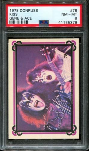 1978 Donruss Kiss #78 Gene Simmons-ace Frehley Pop 10 Psa 8 N2602891-378
