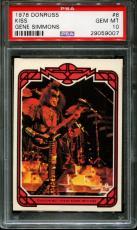 1978 Donruss Kiss #8 Gene Simmons Pop 4 Psa 10 N2570613-007