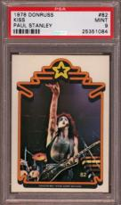 1978 Donruss Kiss #82 Paul Stanley Pop 4 Psa 9 N2223580-084
