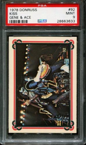 1978 Donruss Kiss #92 Gene Simmons-ace Frehley Pop 6 Psa 9 N2547363-633