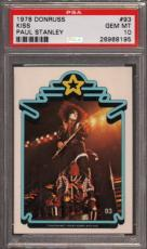 1978 Donruss Kiss #93 Paul Stanley Pop 2 Psa 10 N2425683-195