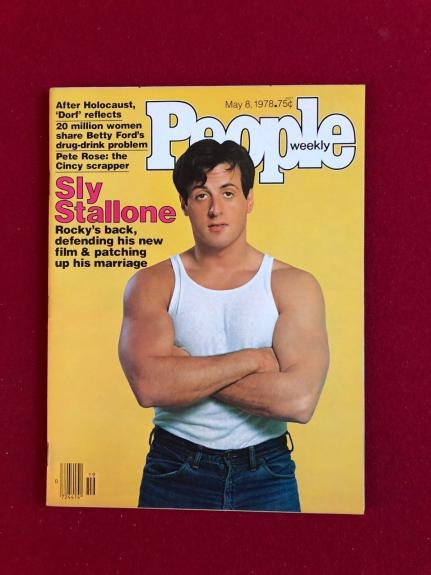 """1978, Sly Stallone  """"People"""" Magazine (No Label) Scarce"""