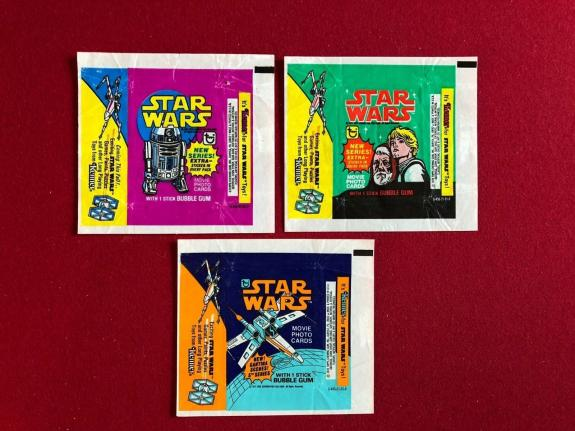 "1978, Star Wars, ""Topps"" Wrappers (Set of 3) Scarce"