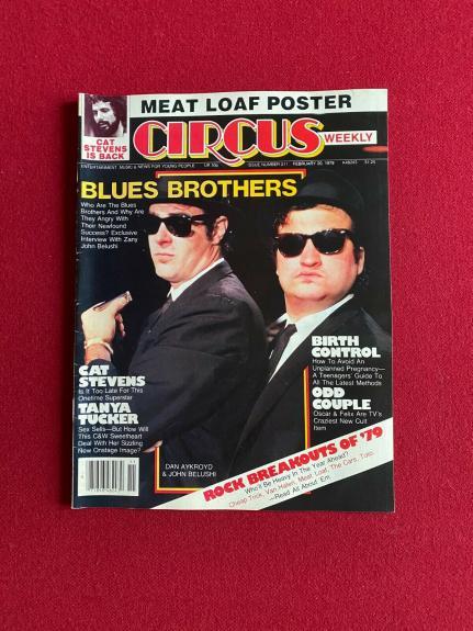 "1979, Blues Brothers (John Belushi), ""CIRCUS"" Magazine (No Label) Vintage/Scarce"