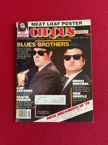 """1979, Blues Brothers (John Belushi), """"CIRCUS"""" Magazine (Vintage / Scarce)"""