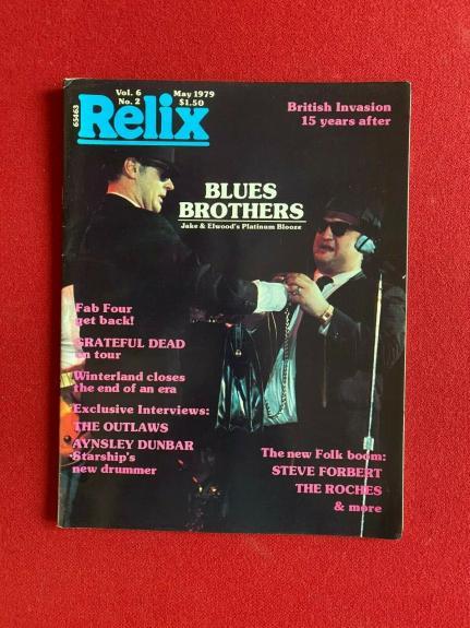 """1979, Blues Brothers (John Belushi), """"Relix"""" Magazine (No Label) Vintage /Scarce"""