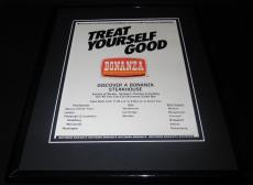 1979 Bonanza Steakhouses 11x14 Framed ORIGINAL Vintage Advertisement