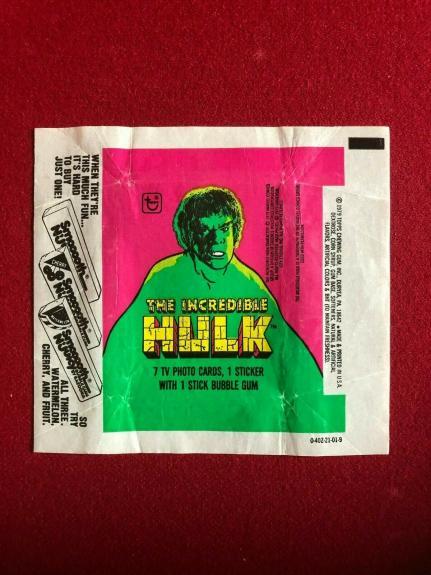 1979, Incredible HULK (MARVEL) TOPPS Trading Card Wrapper (Vintage)