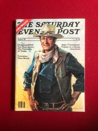 "1979, John Wayne, ""The Saturday Evening Post"" Magazine (No Label) Scarce"