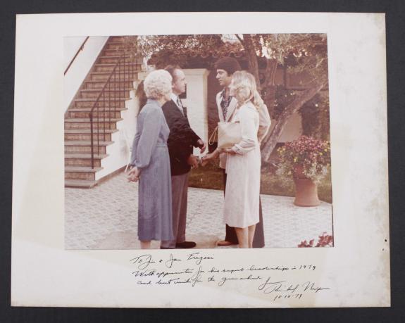 1979 President Richard Nixon Signed Inscribed Photo To California Angels JSA COA