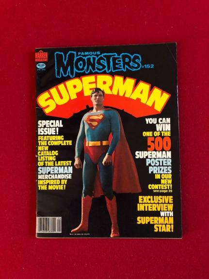 "1979, SUPERMAN, ""Famous Monsters"" Magazine (No Label) Vintage / Scarce"