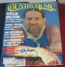 1979 WILLIE NELSON Country Music Legend HOF SIGNED Magazine JSA/COA Autographed