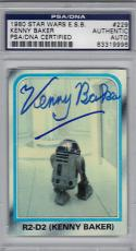 1980 ESB R2-D2 Kenny Baker STAR WARS Signed Trading Card PSA/DNA