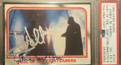1980 Mark Hamill James Earl Jones Topps Star Wars Signed Autograph PSA 4 AUTO 9
