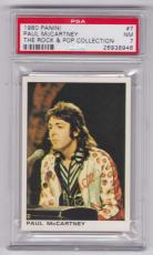 1980 Panini Paul Mccartney The Rock & Pop Collection Card #7 Psa 7 Nm & Centered