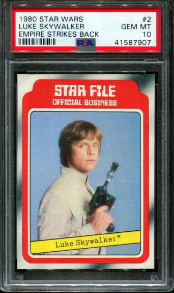 1980 Star Wars Empire Strikes Back #2 Luke Skywalker Pop 2 Psa 10 N2637212-907