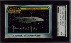 1980 Topps #142 Star Wars Esb James Earl Jones Darth Vader Sgc Jsa Auto
