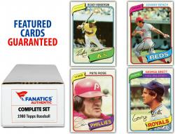 1980 Topps Baseball Complete Set of 726 Cards - Mounted Memories