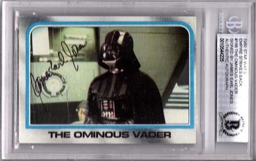 1980 Topps JAMES EARL JONES Signed STAR WARS Darth Vader Card Beckett BAS SLAB