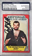 1980 Topps Superman 2 Movie Jack O'Halloran Non Signed Auto Card #6 PSA/DNA