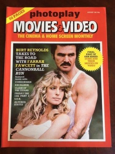 "1981 Burt Reynolds / Farrah Fawcett, ""Photoplay"" Movies Magazine (No Label)"